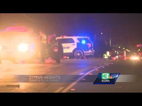 Sunrise Boulevard closed after pedestrians hit by car