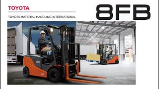 Toyota 8FB 4-Wheel Battery Electric Counterbalance Forklifts