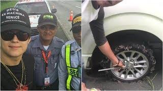 Oh My God !! Enrique Gil muntik ng madisgrasya dahil pumutok ang gulong ng sinasakyan kotse 😱😱😱