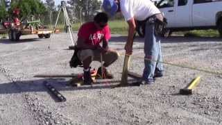 20 x 40 x 12  Steel Truss Pole Barn Part 1 How We Square And Set Posts