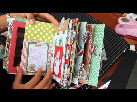 Christmas Chipboard Mini Scrapbook  Kathy Orta Style Album