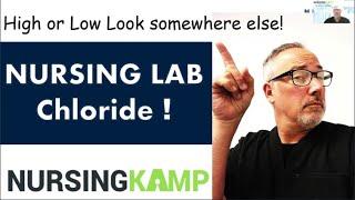 Chloride Lab Fishbone Course Hyperchloremia Hypochloremia Nursing KAMP NCLEX