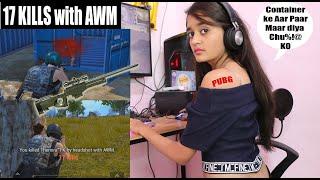 SOLO vs SQUAD Best Sniping with AWM Bitiya ! (17 KILLS Facecam) Pubg Mobile With BindassKAVYA