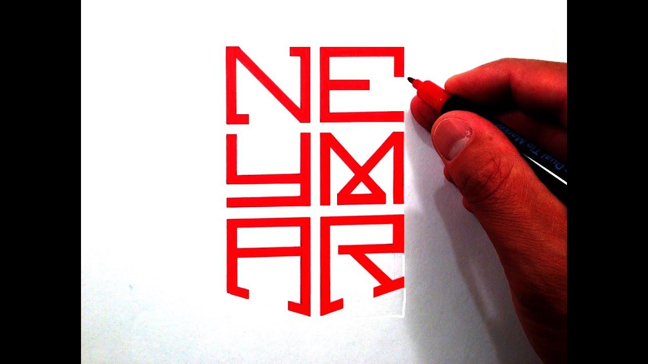 How To Draw The Neymar Jr Nike Logo Youtube
