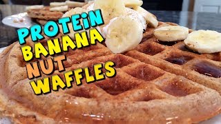Protein Banana Nut Waffles Recipe (healthy/bodybuilding)