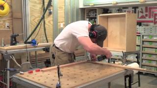 Building Kitchen Cabinets Part 20.  Making Face Frames For The Wall Cabinets