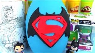 Batman Vs Superman Movie Full Giant Surprise Egg