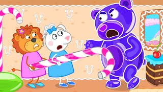 Lion Family Official Channel | Friends 2. Gummy Bear Run Slow | Cartoon for Kids
