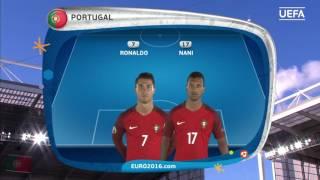 Portugal line-up v Croatia: UEFA EURO 2016