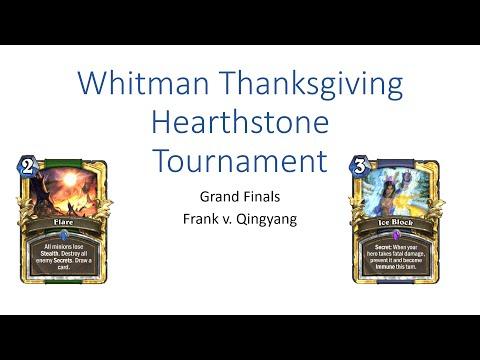 Whitman Hearthstone Thanksgiving Tournament Grand Finals (Frank v. Qingyang)