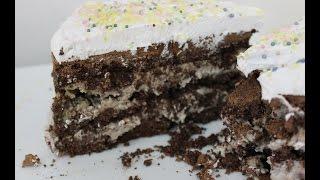 Raw Chocolate Cookie Dough Fudge Cake With Homemade Whipped Cream