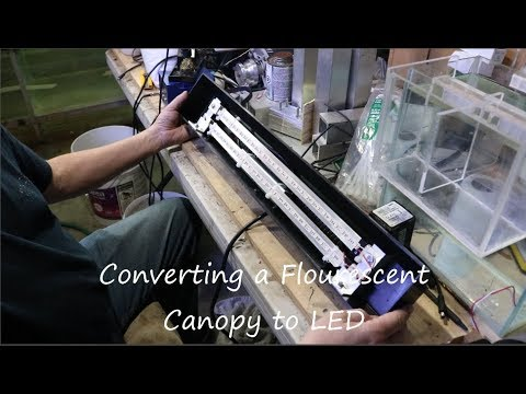 DIY Conversion Of  A Fluorescent Canopy To LED