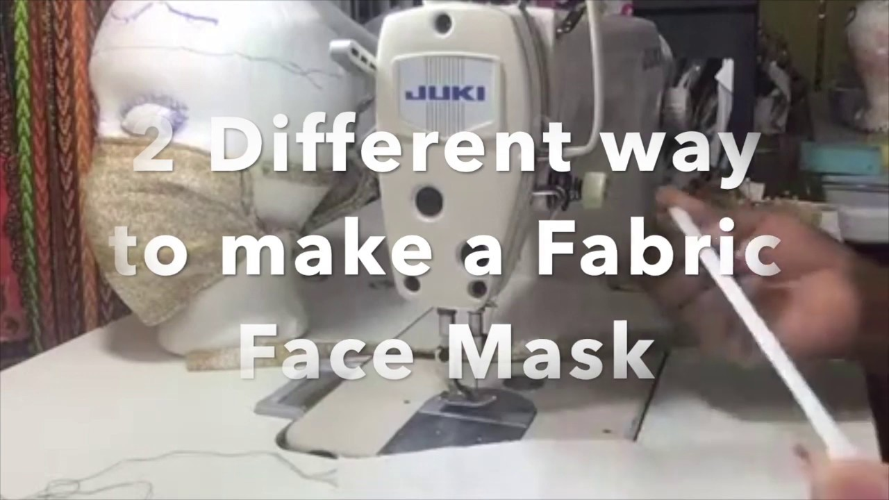 HOW TO MAKE A FACE MASK (2 DIFFERENT WAY) WITH ELASTIC OR CORD\STRING