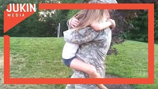 Little Girl Cries at Seeing Her Daddy After Two Weeks