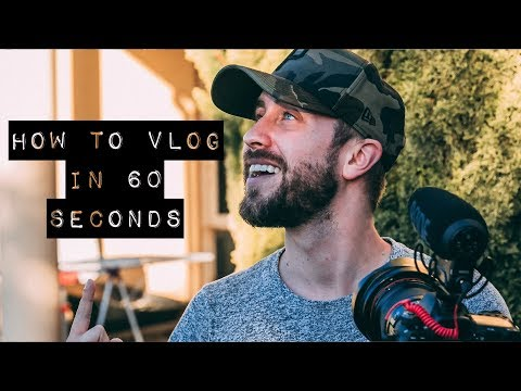 Download Youtube: HOW TO VLOG IN 60 SECONDS!