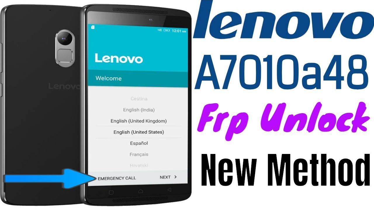 Lenovo A7010a48 Frp Unlock/Bypass Google Account Lock