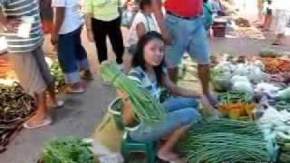 Food Market in Bauang Philippines in Province of La Union near San Fernando