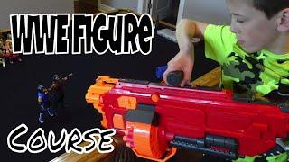 WWE Figures Nerf Gun Course