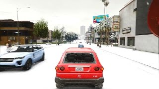 Grand Theft Auto V Snow settings with sweetfx and reshade settings 1080hd