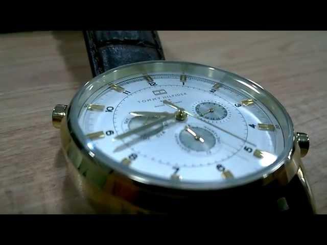 f91af3bc7bb Watch Relógio Tommy Hilfiger couro crocodilo marrom 1790874 - Vi
