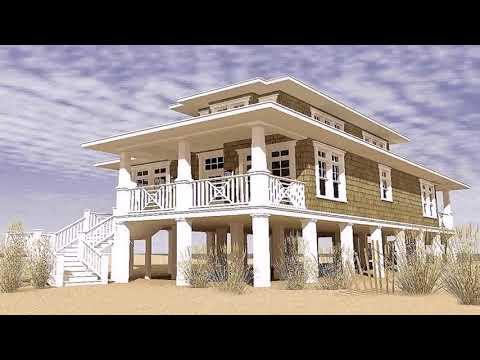 Small Coastal Beach House Plans
