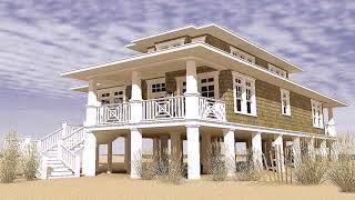Small Coastal Beach House Plans  See Description
