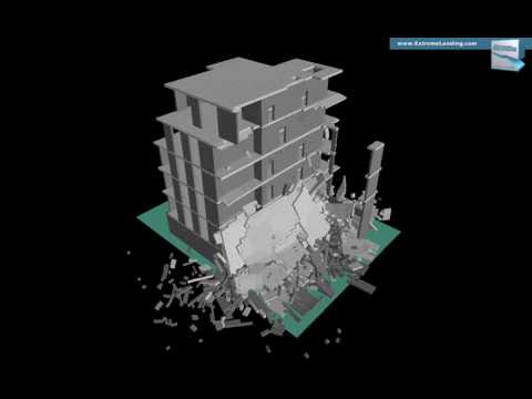 INACHUS - Multifamily House, Explosion Scenario, Moderate intensity, Location n 2