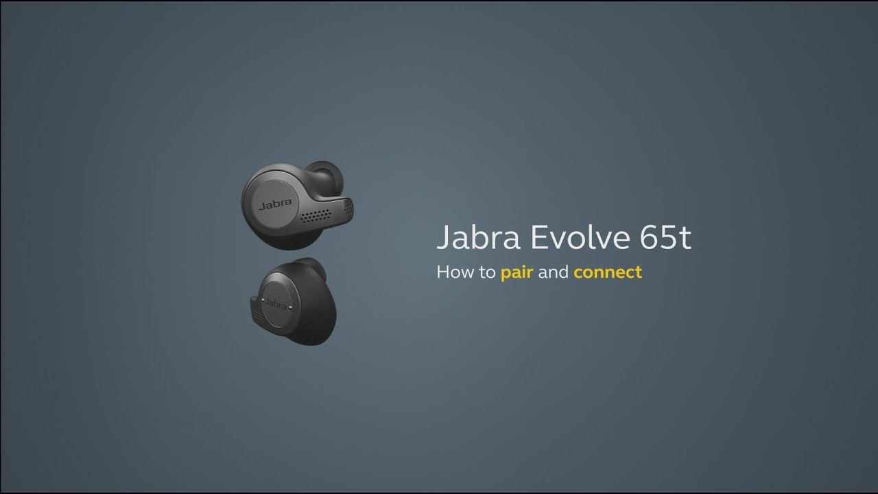 Jabra Evolve 65t How To Pair And Connect Youtube