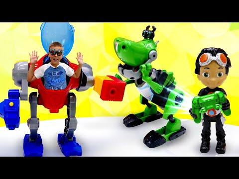 Расти Механик - Собираем робота Динозавра! – Видео игры для мальчиков в Автомастерской.