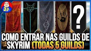 Guia Skyrim Como Entrar Nas Guilds de Skyrim (TODAS 5 GUILDS)