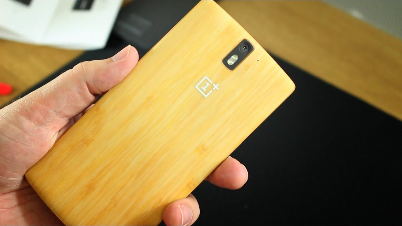 big sale 68b20 478e6 OnePlus One Bamboo StyleSwap cover unboxing and installation