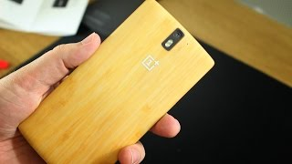 OnePlus One Bamboo StyleSwap cover unboxing and installation