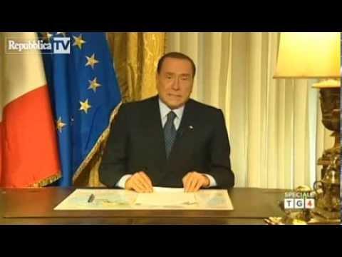 Videomessaggio di Berlusconi dopo la sentenza della Cassazione