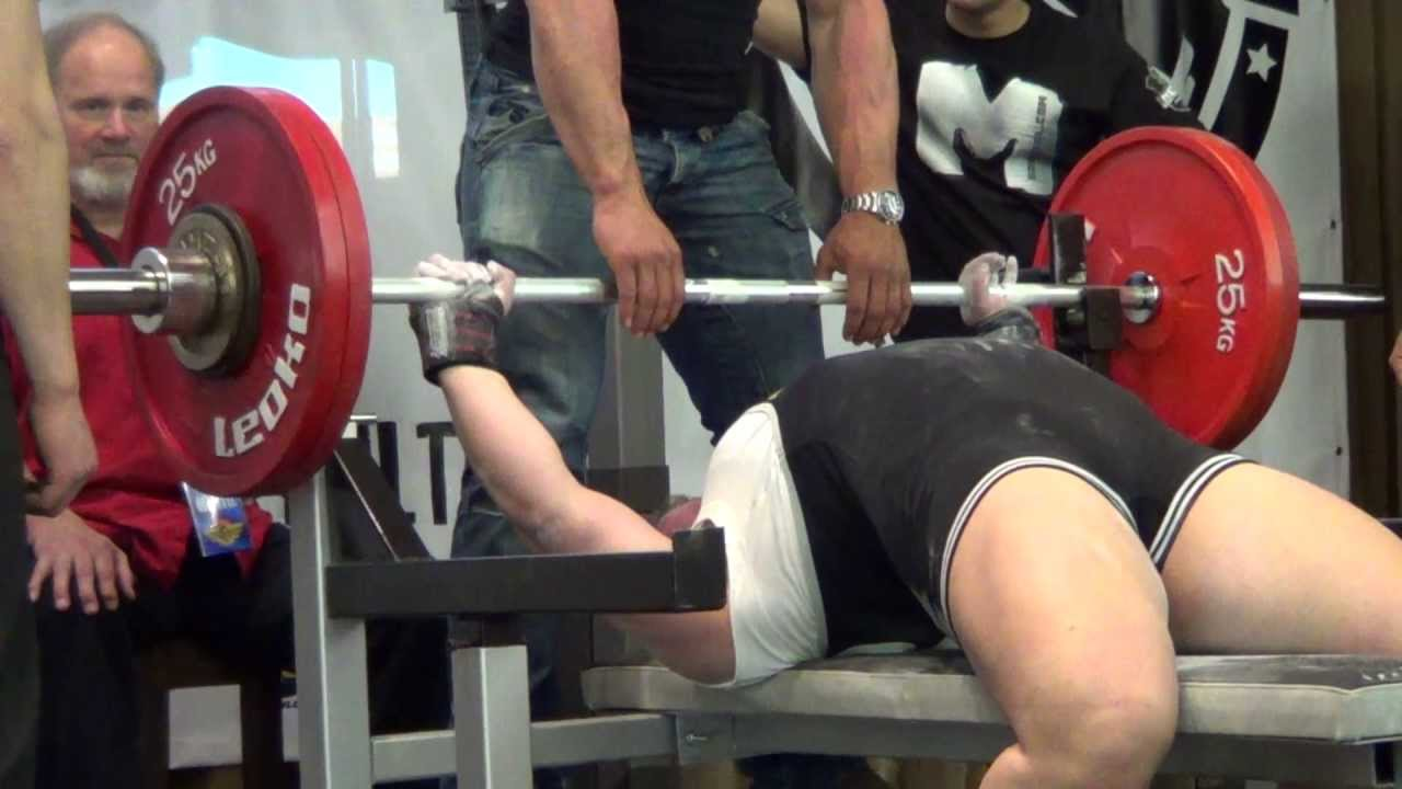 Record Bench Part - 49: WPC Bench Press World Record Attempt Anna Karrila 132,5 Kg @ 90 Kg - YouTube