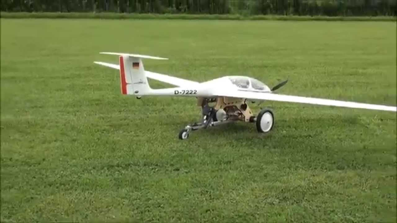 Dolly for RC Motor Glider - YouTube