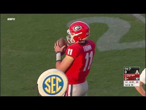 Georgia vs Appalachian State NCAA Football 2017