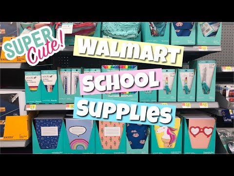 WALMART SCHOOL SUPPLIES 2019
