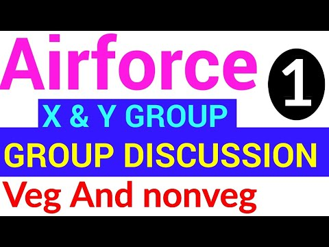 veg and nonveg topic group discussion for airforce x and y group