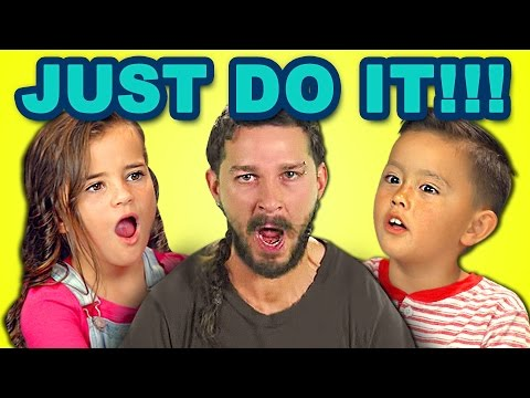 KIDS REACT TO JUST DO IT (Shia LaBeouf Motivational Speech)