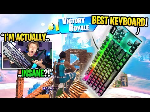 I bought the FASTEST Keyboard for Fortnite and it TURNED me into THIS... (best keyboard ever)