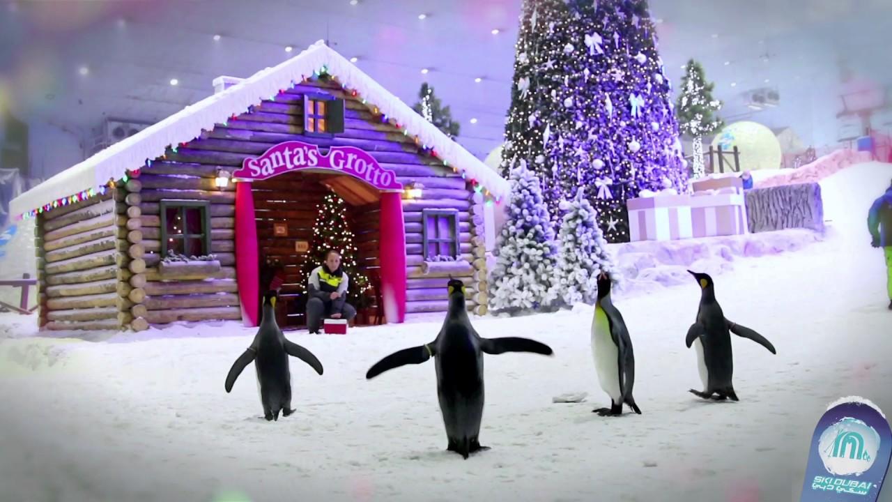 Snow Park Dubai Downtown Christmas 2021 Christmas Celebration At Ski Dubai 2016 Youtube