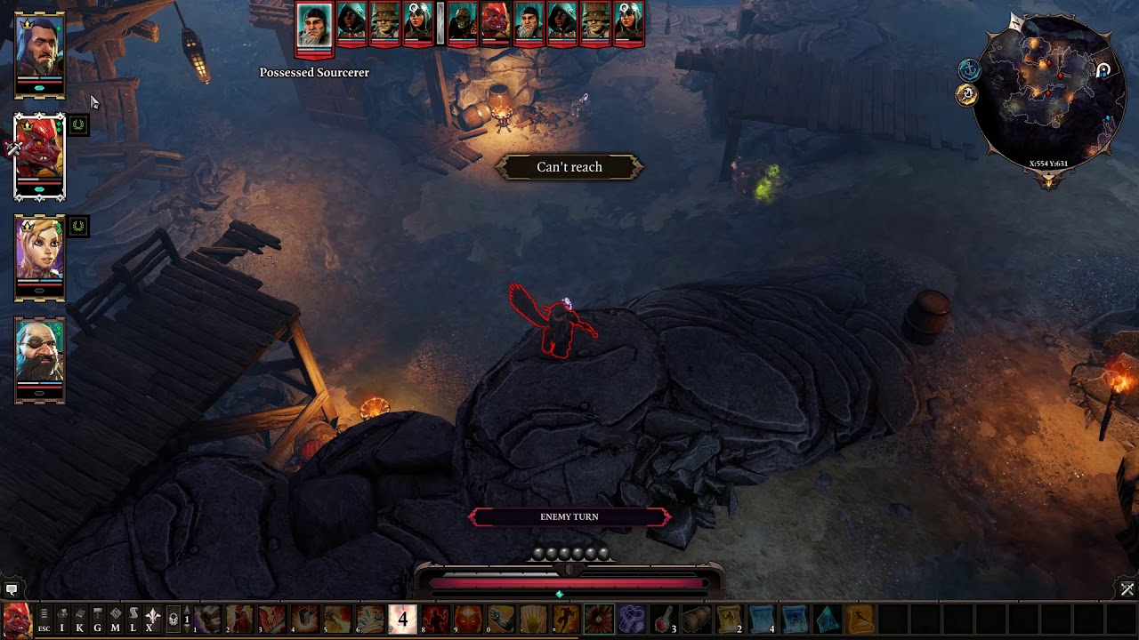 Cheese Strats at Wrecker's Cave Boss Fight - Divinity Original Sins 2
