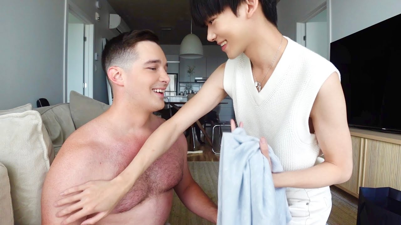 Download Married gay couple teasing each other~