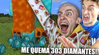ROBLEIS ME QUEMA 303 DIAMANTES EN MI CASA !!! MINECRAFT PARTE 22 BYTARIFA GAMING