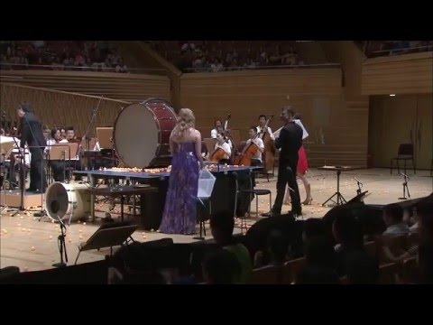 « Ping Pong Concerto » d'Andy Akiho (ping-pong, violon, percussions & orchestre). Création mondiale