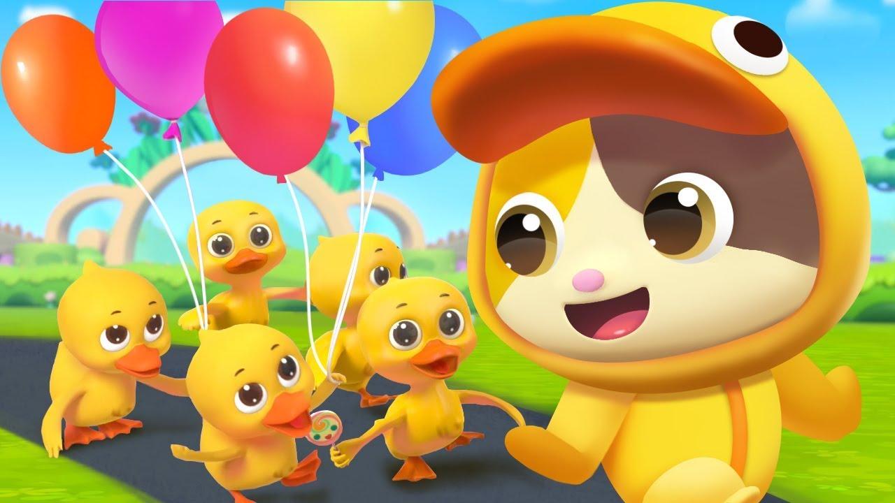 Five little ducks☆かわいいあひるちゃん達 | 人気英語童謡 | すうじのうた | 赤ちゃんが喜ぶ歌 | 子供の歌 | 童謡 | アニメ | 動画 | ベビーバス| BabyBus