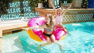 Download 😰LAST TO LEAVE THE POOL WINS!! 🏊AND GETS TO SKIP SCHOOL!! Mp3 and Videos