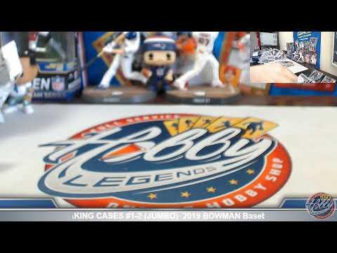 CASES #1-2 (JUMBO)  2019 BOWMAN Baseball 3 Case (2 JUMBO / 1 HOBBY) PLAYER Break EBay 4/18/19