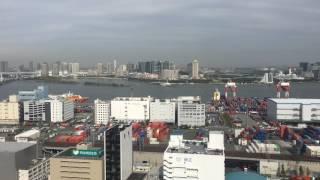 第一ホテル東京シーフォート客室からの眺め