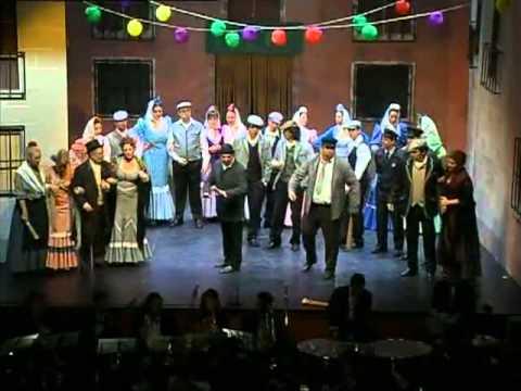 La verbena de La Paloma. Dónde vas con mantón de Manila. Teatro Lírico Andaluz